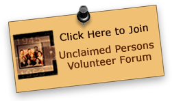 Unclaimed Persons volunteer forum